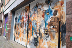 Street art (Maria Eklind) Tags: art street port sweden graffiti streetart paitings mlning mural garageport drr cityview konst streetview publicart davidshall city malm skneln sverige se