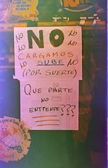 Manifiesto del NO (decomponiendo) Tags: sube tarjeta subte colevtivo argentina film 35mm analgico