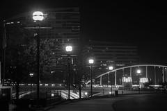 stoale_s4 (samanthatoalephotography) Tags: night black white blackandwhite bw downtown downtowncolumbus ohio columbusohio light dark darkness city path street streetlight
