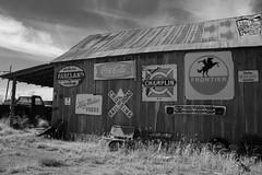 More Of The Texaco-Explored Nov 10 (pam's pics-) Tags: sonya6000 bw highway36 washingtonkansas ks kansas midwest texaco pamspics pammorris signs vintagesign outofbusiness gasstation servicestation coke cocacola