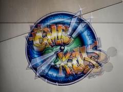 Two Times (Silaris Inc.) Tags: malerei beton schwerter urban kunst farbe zifferblatt zeit schriftzug rmischeziffern graffiti motiv uhr mehrfachbelichtung wand