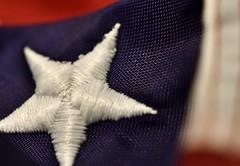 Stitch - Macro Monday - My Home (c.denisebacher) Tags: macromonday stitch redwhiteandblue flag star starspangledbanner america unitedstates home macromicro