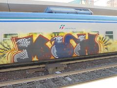 244 (en-ri) Tags: hum nero giallo grigio blu train genova zena graffiti writing rosso