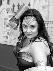 Wonder  Woman (J Wells S) Tags: wonderwoman blackandwhite monochrome bw prettywoman dccomics dianaprince cincinnaticomicexpo dukeenergycenter cincinnati ohio cosplay costume dressup portrait candidportrait people