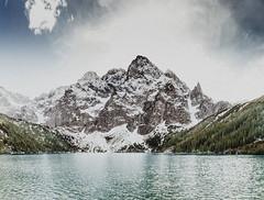 Morskie Oko (kubaszymik) Tags: tatry moutains snow lake water hdr high dynamic range pano panorama canon zakopane maopolska