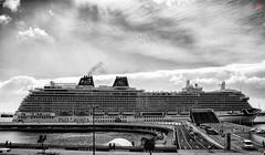 In Bw because i love it .. Fascinating Britannia cruise ship in Portas do Mar Harbor , PontaDelgada São Miguel Azores , today 25/10/2016.. (MiguelSantosi) Tags: bw blackandwhite blackandwhitephotography blackandwhitephoto bwlovers bwphotography blackandwhitelovers bwphoto bwshot blackandwhiteshot bnwsaomiguelazores bnw bnwcaptures bwshots blackandwhiteshots blackwhite bnwsociety blackandwhitecaptures blackandwhitephotograhy blackandwhitephotogaphy fotografiapretoebranco pretoebranco pretoebrancofotografia brittania cruise cruises cruizes cruize cruizeiro cruseiro cruiseship