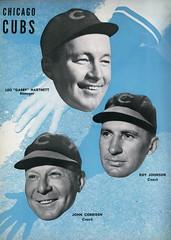 1938 World Series Program Cubs Coaches (Regional History Center & NIU Archives) Tags: worldseries northernillinoisuniversity regionalhistorycenter baseball chicago chicagocubs wrigleyfield 1938 gabby hartnett cubs coach manager