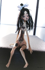 Needle (Vali.Tox.Doll) Tags: ettie nefer kane doll bjd balljointeddoll ball jointed yosd neferkane circuskane ckdoll circus tattoo tattoos wig black nude resin artdoll art toys