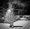 Girl (Shooting Ben) Tags: film 120 120film fuji fujifilm neopan blackandwhite coffee caffenol caffenolc bw twinlensreflex tlr mama c330 mediumformat girl toddler child cute beautiful spring dress sunlight natural play playful playing posing model