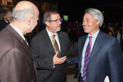 The Honourable Dr. Reza Moridi, Minister of Research, Innovation and Science, Maurice Bitran PhD, CEO and Chief Science Officer, Ontario Science Centre and Chris Tambakis, CEO, North America Adgar Investments and Development (The Ontario Science Centre) Tags: 2016 rbc innovators ball