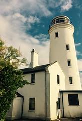 Bird House (Land Ahoy) Tags: house tower white dorset birdobservationtower observationtower observatory birdtower portlandbill portland