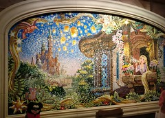 Rapunzel mural inside the Shanghai Disneyland Castle (Suki Melody) Tags: shanghai disney disneyland mural artwork tiles rapunzel tangled pascal lanterns beautiful art castle china mosaic
