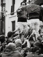Castellers (Gargomo ( Jos Luis )) Tags: epl3 mzd45mm festamajor elpratdellobregat castellers pinya bn blancoynegro