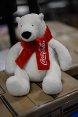 Coke polar bear BOSH 12-15-15 (THE Holy Hand Grenade!) Tags: cocacola® coke™ stuffedtoy orchardsupplyhardware berkeleyca nikond610 nikkor50mmƒ14afd geotagged