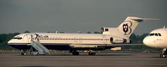 B727   F-GCGQ   RTM   19970512 (Wally.H) Tags: boeing 727 boeing727 b727 fgcgq belairiledefrance rtm ehrd rotterdam rotterdamthe hague airport
