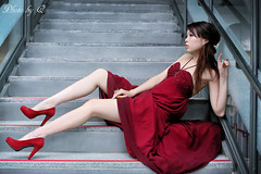 Red Wedding (SU QING YUAN) Tags: wedding red beauty beautiful model girl young pretty leg portrait 5d3 canon eos 50l 50f12 bestportraitsaoi