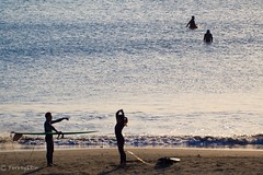 Surfer girl (Yorkey&Rin) Tags: 2016 afternoon autumn em5 family fujisawa japan kanagawa katasebeach november olympus olympusm75300mmf4867ii rin surfer surfergirl tb072786 teaching