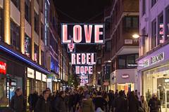 Love, Rebel, Hope (scarlet-pimp) Tags: w1 london shopping christmaslights carnabystreet christmas xmas highstreet londonist rogueone starwars timeoutlondon traveldestination night