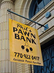Phil's Pawn Bank, Conyers, GA (Robby Virus) Tags: conyers georgia phils pawn shop bank sign signage store business gold rockdale buy sell trade