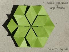 Shieled Star (back) 5 by Jorge Jaramillo (esli24) Tags: stars origami sterne paperstars papierfalten carmensprung papiersterne jorgejaramillo juliaschönhuber esli24 ilsez kaleidoscopepaper kaleidoskoppapier shieldedstar