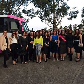 Hens Night on #PinkPartyBus #HensBusSydney Party Shuttle on ladies!