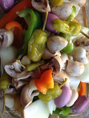 Veggies (angry_issie) Tags: tea bbq toothpicks kabobs barbque fired