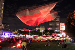 1.26 BY JANET ECHELMAN @ Les Jardins Gamelin (A Great Capture) Tags: show park trip travel light vacation sculpture music fish canada art net festival night french concert photographer shot nightshot montral metro mtl quebec getaway montreal object stage country great performance floating roadtrip canadian aerial entertainment musical qubec hanging suspended capture t parc luminous qc centreville 126 berriuqam yul pq agc ald placemiliegamelin canadiancity islandofmontreal a gamelin janetechelman francophonesducanada adjm quartierdesspectacles netsculpture parcgamelin ashleysphotoscom ashleylduffus jardinsgamelin jardingamelin 126byjanetechelman montralcountry ppinireco wwwagreatcapturecom agreatcapture