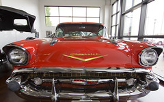 Swope Car Museum Sept 2015  11 (A  Train) Tags: red classic chevrolet belair classiccar kentucky sigma chevy 57 57chevy sigma1020mm redcars 1957chevybelair elizabethtownkentucky swopecarmusuem