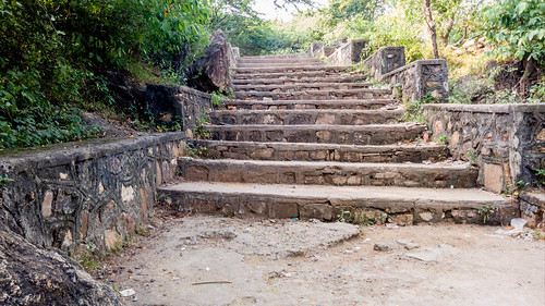Steps leading up to Atak Gate from Champaner
