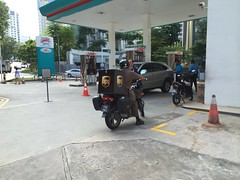UPS motorbike