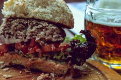 Burger and Beer (katerinamerkulova) Tags: food beer closeup europe burger brno hunger czechrepublic czechbeer pornfood ilobsterit