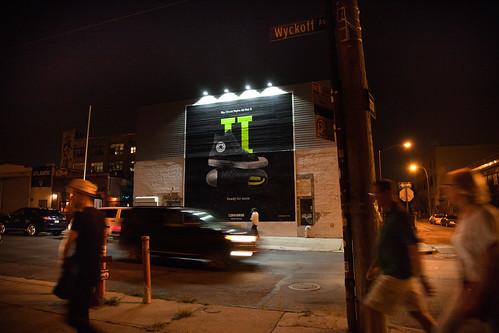 Converse after dark in Bushwick