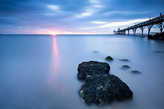On The Rocks (~g@ry~ (clevedon-clarks)) Tags: uk longexposure sunset seascape seaweed clouds landscape coast pier rocks victorian somerset coastal le minimalist foreground clevedon northsomerset bristolchannel clevedonpier daytimelongexposure milkywater 6stopnd hitechfilters mistyrocks littlestopper