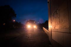 The Mysterious Morning Monster (Le mystre du monstre du matin) (Gilderic Photography) Tags: street city morning strange monster mystery night truck lumix lights belgium belgique belgie panasonic camion rue liege ville gilderic lx3 dmclx3