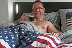 43/52 Bedfie (Meteorry) Tags: morning hairy selfportrait man holland male guy home netherlands coffee smile amsterdam freedom bed bedroom october europe chest nederland east american libert lit wintertime sourire paysbas autoportait starsandstripes comforter homme est noordholland matin couette selfie nespresso oost watergraafsmeer 2015 lungo meteorry 52weeks heyboo 52semaines fortissio bedfie