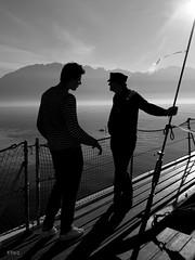 marins d'eau douce (EP61) Tags: bw noiretblanc marin lac demoiselle bateau leman vevey ep61