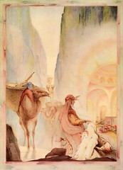 """Treasure mortal eyes had never before gazed upon."" Art by E. J. Detmold from ""The Arabian Nights."" NY: Dodd, Mead & Co., (1925). (lhboudreau) Tags: illustration watercolor book artwork treasure tales drawing illustrations drawings books camel illustrator arabian watercolors fables 1925 bookart hardcover detmold colorart vintagebook arabiannights illustratedbooks illustratedbook vintagebooks vintagebookillustration thousandandonenights hardcovers thearabiannights hardcoverbooks bookartist edwardjuliusdetmold hardcoverbook doddmeadco doddmead bookillustrator ejdetmold edwardjdetmold vintagebookillustrations colorplates classictales classicstories classicillustrators classicillustrator vintageillustratedbook edwarddetmold tippedin doddmeadandcompany vintageillustratedbooks classicfables babaabdalla thestoryofbabaabdalla"