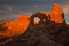 Turret Arch [ExploReD] (Patrick Berden) Tags: sunset usa utah nationalpark arch sundown archesnp 2015 turretarch