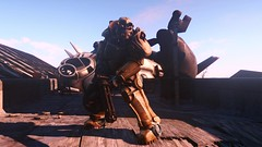 Fallout4 - Armed & Ready ... (tend2it) Tags: game pc screenshot power 4 rusty nuclear xbox suit rpg armor future fusion concord core apocalyptic minigun fallout t45 injector postprocessing ps4 reshade fallout4 screenarchery