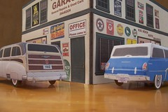 Papercraft Auto Repair Shop (official inspection station) Tags: chevrolet dodge stationwagon papercraft papertoy papercar papercraftchevrolet papercraftoldcar papercraftdodge
