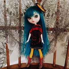 in living colour (Mina Mimosa) Tags: anime fashion japanese eyes doll acrylic dolls teal wig pullip prunella