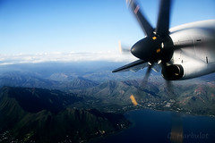 Mont Dore (cedric.harbulot) Tags: sea sky cloud mer mountain montagne plane nikon aircraft sigma ciel nuage paysage nouvellecaldonie newcaledonia avion hlice atr72500 aircal d5300