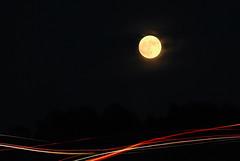 Super Moon (Carrie McGann) Tags: moon supermoon fullmoon clouds cameratoss lighttrails eldoradohills 111316 nikon interesting