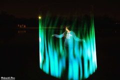 Pixelstick Light Painting - Blue Flames (RickDrew) Tags: blue light girl night painting fire flames led pixel stick pixelstick