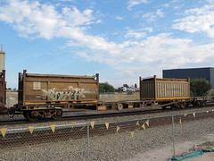 AQWY 30201 M with COR 5805 L and 22U6 COS 6101 Forrestfield WA 11.10.2015. (dvdlcs) Tags: cor cos westrail wfx forrestfield aqwy wqcx 22u6 wasaltsupply