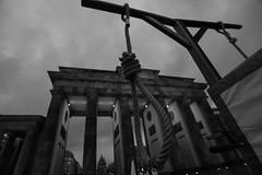 GERMANY-BERLIN-DAILY (X-Andra) Tags: life street berlin germany de death gate iran daily brandenburg penalty mullah dictatorship