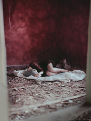 untitled (maximilianmair) Tags: wood old red italy woman white house abandoned girl canon hair 50mm model italian dress legs sleep room fear 14 grain teen teenager lonely tumblr instagram maximilianmair