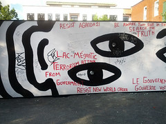 Conspiracy Theories Galore (Exile on Ontario St) Tags: world park new eye art public wall train fire graffiti words crazy truth order village montral aires montreal nwo newworldorder explosion attack lac rail theory oeil yeux tragedy installation disaster conspiracy terror terrorism government publicart written wtf mur parc aire paranoia libre feu illuminati artpublic catastrophe incendie crazies lacmegantic il delusion lacmgantic mgantic terreur libres conspiracytheory delusional attaque complot terrorisme aireslibres raildisaster conspiration thorie ferroviaire dsastre tragdie conspirationism thorieducomplot complotisme conspirationnisme conspirationist