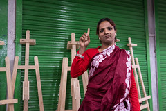 Her name is Beauty, she said (AvikBangalee) Tags: portrait people portraiture dhaka saree bangladesh transsexual hijra easels greenandred thirdgender meetthepeople peopleofbangladesh avikbangalee peopleandliving 3rdgender