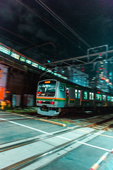 () Tags: city green japan night tokyo shinjuku trains jr rails yoyogi reactor slums mako
